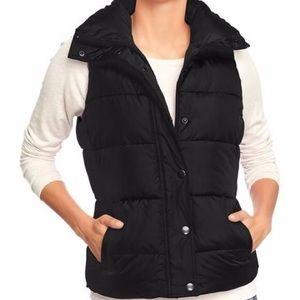 OLD NAVY Black Fleece Puffer Vest